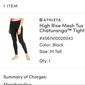High rise mesh tux chaturanga tight